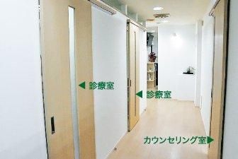 半個室の診察室